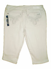 Seven 7 Premium Denim White Capris Cropped Stretch Jeans Size 14, 16 New $74