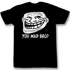 Trollface Coolface You Mad Bro Funny Meme Adult T-Shirt Tee