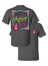 Southern Couture Livin the Cheer Life Sports Cheerleader Chevron Girlie T-Shirt