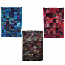 Unique Hand Crafted Beaded Indian Wall Hanging - Choice of BLUE Hot Pink BROWN