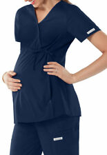 Cherokee Maternity Scrubs Navy Premium Core Stretch Knit Panel Top Sz XS-XXL NWT