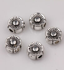 25/50Pcs Tibetan Silver Flower Spacer Beads Jewelry Charm Finding DIY 6x3mm