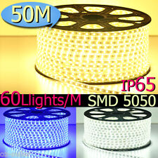 50M Party Christmas Lights Wedding Rope Light With Power Cord 3000LED Waterproof