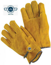 Unlined Grain Cowhide with Pull Strap Gloves, Sold by Dozen