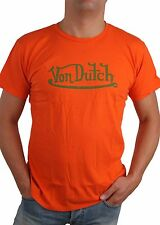 Von Dutch men's T-shirt shirt Hole Fine T-Shirt Orange Size M - XL