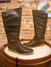 Bare Traps Tommy Dark Brown Buckle Detail Riding Boot New