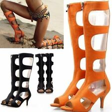 Size 5-10 Women's Sexy Roman Gladiator Knee High Sandals Boots Party High Heels