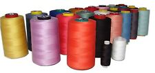 4 SPOOLS OF Spun Polyester Quilting Serger Sewing Thread CHOOSE COLORS 6000 YARD