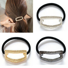Hot Punk Metal Hollow Hair Band Cuff Wrap Pony Tail Rope Holder Headband