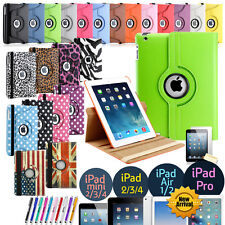 360 Rotating Leather Folio Case Cover Stand For Apple iPad Mini 2 3 4 Air Pro