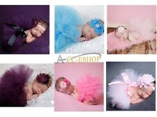 Cute Newborn Baby Girl Tutu Skirt Headband Photo Prop Costume Outfit Dress Set