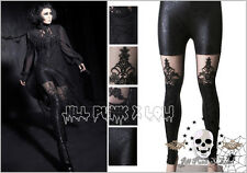 Gothic visual Baroque Dark empire Castle Beam layered-look leggings K144