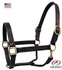 Derby Originals Triple Stitched Double Layered USA Leather Stable Horse Halter