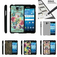For Kyocera Hydro Shore | View | Reach Slim Hard Snap On Case Butterfly Flowers