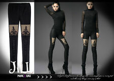 Gothic visual Baroque Dark empire Castle Beam layered-look thermal leggings K244