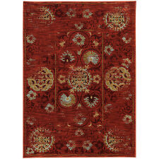 RUGS AREA RUGS CARPET CLEARANCE AREA RUG SALE DECOR Modern Abstract Red RUGS NEW