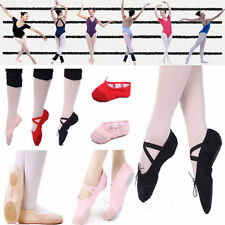 New Adult Women Soft Split-Sole Canvas Ballet Dance Shoes Slippers Ballet