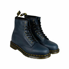Dr. Martens 1460 8 Eye Boot Mens Blue Leather Casual Dress Boots Shoes