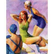 Marmont Hill Three Bathing Beauties John LaGatta Painting Print on Canvas