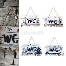 Nautical Door Hanging Wooden WC/Welcome Plaque Sign Board Wall Bar Pub DIY Decor
