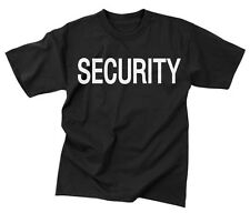 Blk ''security'' Official Issue Dble-Sided Raid T-Shirt