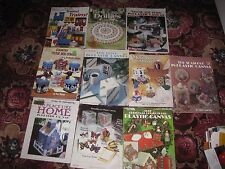 Your Choice One Plastic Canvas Pattern Booklet - see photos & listing