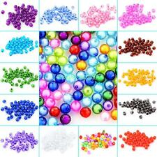 Colorful 50 Pcs Wholesale Round Spacer Loose Beads Charm Jewelry Making 8mm Hot