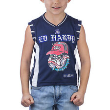 Ed Hardy Blue Toddler Boys Sports tank Vest