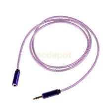 3.5mm Male to Female Stereo Audio Headphone Extention Cable Cord 1M Red