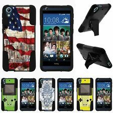 For HTC Desire 626 & 626s| Hybrid Hard Bumper Stand Case USA Skull