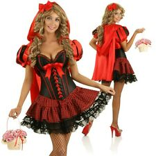 Adult Little Red Riding Hood Dress Up Costume Halloween Fairytale Party Outfit