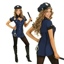Womens Police Role Play Sexy Fancy Dress Costume