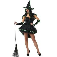 Womens Magic Cauldron Witch Costume Wicked Halloween Dress Up Party Outfit & Hat
