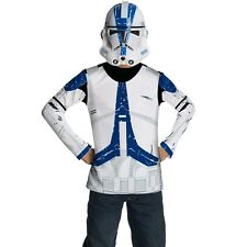 Boys Clone Trooper Star Wars Costume Soldier T-Shirt Child Party Outfit & Mask