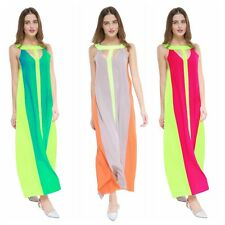 Hot! Women Lady's Colorful Maxi Ball Gown Formal Cocktail Party Long Dress S-XL