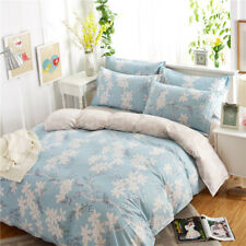100% Cotton Flower Duvet/Quilt/Doona Cover Set Single/Queen/King Size Bed Linen