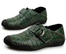 New Mens buckle leather driving flat casual shoes moccasin gommino