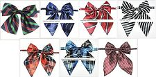 HIGH QUALITY Women Girl Sailor School Pre-tied Satin Bowtie Bow Tie Striped