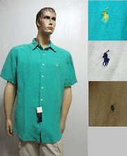 POLO Ralph Lauren mens 7933995 Linen Silk Classic fit short sleeve shirt S NEW