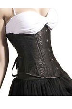 sexy Under Breast Corsage breast free Corset Basque Gothic Satin <5ba>