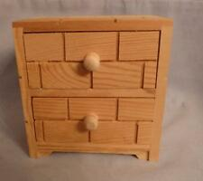 Small Wood 2 Drawer Chest, End Table or Night Stand