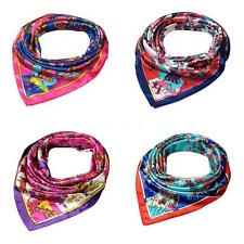 Lady Satin Kerchief Square Scarf Women Thin Shawl Beach Wrap OL Lady SEXY Q2K5