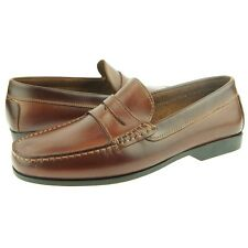 """Daniele Lepori """"Poker"""" Leather Penny Loafer, Men's Shoes, Italy, Brown"""