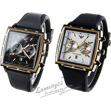 Men's Easy Reader Watch Stainless Steel Case Analog Quartz Sport Wristwatches