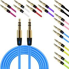 3.5mm Auxiliary Cable Audio Cable Male To Male Stereo Jack Plug Flat Aux Cable