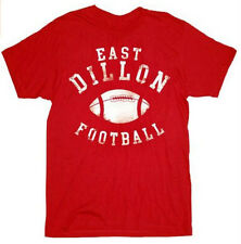 Adult Red College Movie Friday Night Lights East Dillon Football T-shirt Tee