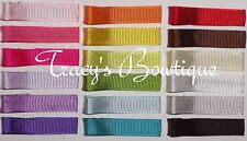 Dozen / 12 Grosgrain Lined Single Prong Alligator Hair Clips for Bows or Flowers