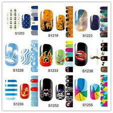 14pcs New DIY Nail Wraps Polish Stickers Patch Foils Art Decals Adhesive