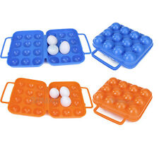 Folding Plastic Eggs Carrier Case Box Container ( For 6/12 eggs ) Picnic Camping