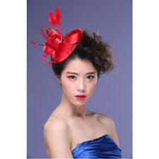 Kentucky Derby Flower Feather Fascinator Clip Cocktail Racing Wedding Party Hot